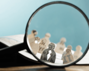 magnifying glass showing recruitment