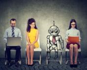 robot interviewing for job